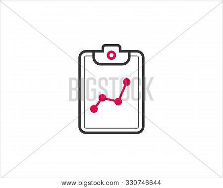 Analytics Document Graph Icon Design For Web