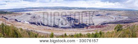 Coal Mining In An Open Pit