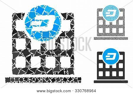 Dash Company Building Mosaic Of Bumpy Elements In Various Sizes And Color Hues, Based On Dash Compan