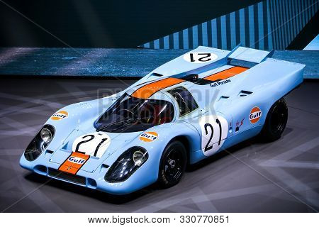 Frankfurt Am Main, Germany - September 18, 2019: Sports Prototype Race Car Porsche 917 At The Frankf