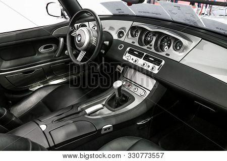 Frankfurt Am Main, Germany - September 18, 2019: Interior Of The Retro Sportscar Bmw Z8 (e52) Presen