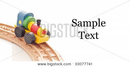 Toy On Curved Track With Space For Text