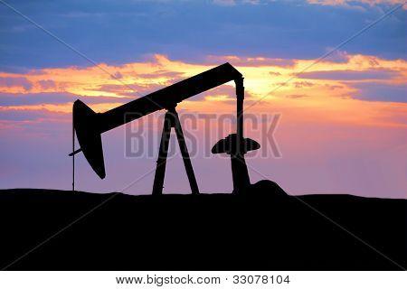 Oil Rig Silhouette