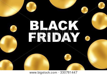Black Friday Sale Banner. Black Friday Sale Banner Vector Design Template For Website, Ad. Realistic