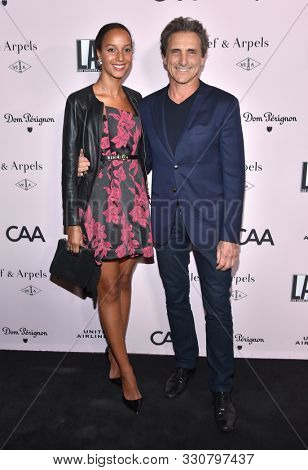 LOS ANGELES - OCT 19:  Cindy Cederlund and Lawrence Bender arrives for the LA Dance Project Gala on October 19, 2019 in Los Angeles, CA