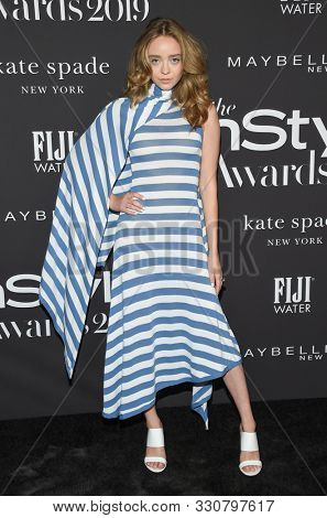 LOS ANGELES - OCT 21:  Madeleine Arthur arrives for the 2019 InStyle Awards on October 21, 2019 in Los Angeles, CA