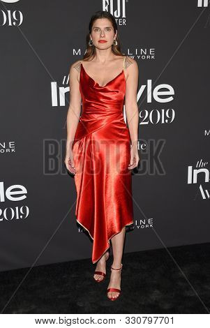 LOS ANGELES - OCT 21:  Lake Bell arrives for the 2019 InStyle Awards on October 21, 2019 in Los Angeles, CA