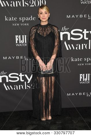 LOS ANGELES - OCT 21:  Kaley Cuoco arrives for the 2019 InStyle Awards on October 21, 2019 in Los Angeles, CA