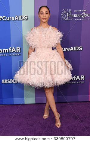 LOS ANGELES - OCT 10:  Cara Santana arrives for the 2019 amFAR Gala on October 10, 2019 in Hollywood, CA