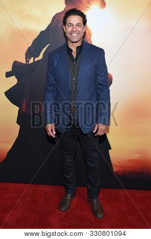 LOS ANGELES - OCT 29:  Jon Huertas arrives for the ÔHarrietÕ Los Angeles Premiere on October 29, 2019 in Los Angeles, CA
