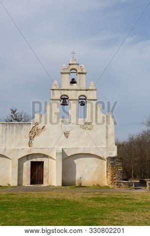 Mission San Juan Capistrano In San Antonio, Texas, Usa. The Mission Is A Part Of The San Antonio Mis