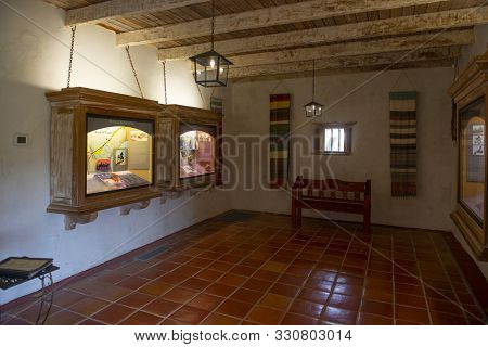 San Antonio, Tx, Usa - Dec. 11, 2018: Visitor Center And Museum In Mission San Juan Capistrano In Sa