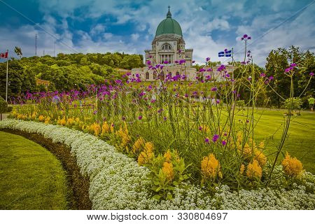 St Joseph Oratory, Montreal, Canada, July 2012 - The Famous Oratory Is Surrounded By A Rich Landscap