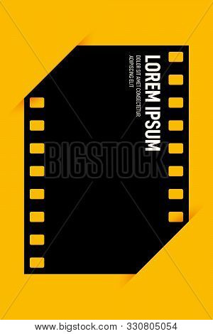 Movie And Film Poster Design Template Background Vintage Retro Style. Graphic Design Element Templat