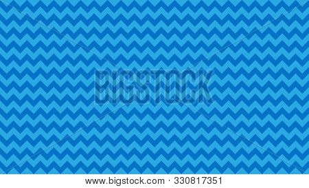 Serrated Striped Blue Pastel Color For Background, Art Line Shape Zig Zag Blue Color, Wallpaper Stro