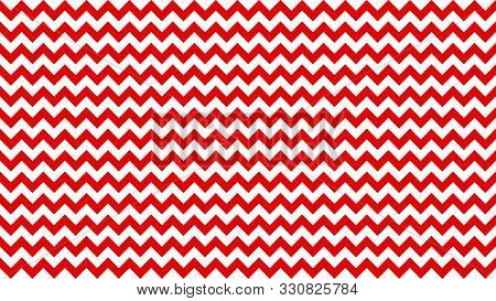 Serrated Striped Red Color For Background, Art Line Shape Zig Zag Red Color, Wallpaper Stroke Line P