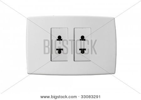 Isolated wallplate isolated on white background