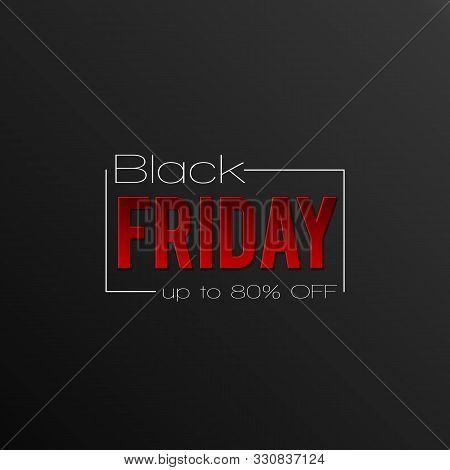 Black Friday Sale Inscription Design Template.  Black Friday Super Sale Offer. Discount Offer Presen