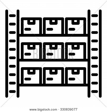 Warehouse Inventory Icon. Outline Warehouse Inventory Vector Icon For Web Design Isolated On White B