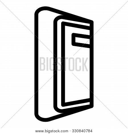 Foldable Device Icon. Outline Foldable Device Vector Icon For Web Design Isolated On White Backgroun