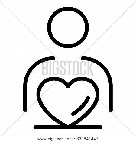 Love Celebrity Icon. Outline Love Celebrity Vector Icon For Web Design Isolated On White Background