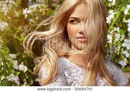 Shiny Portrait Of Beautiful Happy Woman