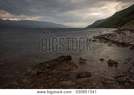 Loch Ness, A Large, Deep, Freshwater Loch In The Scottish Highlands  Best Known For Alleged Sighting