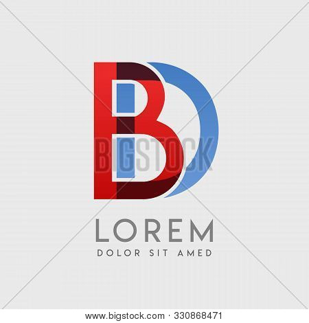 Bd Logo Letters With Blue And Red Gradation