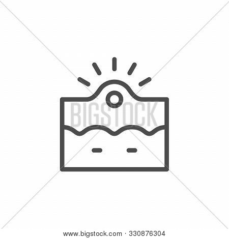 Acne Inflammation Line Outline Icon Isolated On White. Pus Pimple Illustration. Irritation, Comedo,