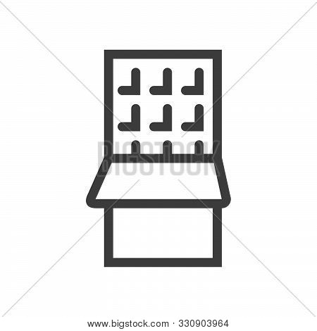 Chocolate Bar Icon. Dessert Food Line Logo. Sweet Snack Graphic Pictograph. Linear Style Icon. Flat