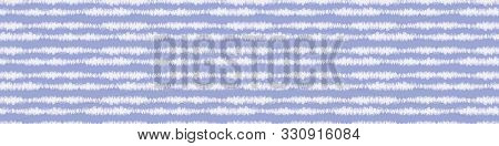 Tie Dyed Stripe Variegated Border Background. Seamless Pattern With Inky Dye Drop Spill. Bleached In