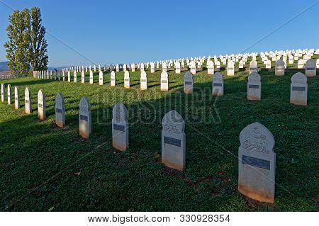Sigolsheim, France, October 14, 2019 : National Necropolis Of Sigolsheim. Among The 1,589 Soldiers W