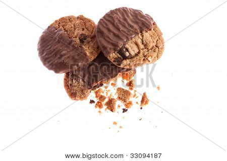 Chocolate Cookies With Crumbs