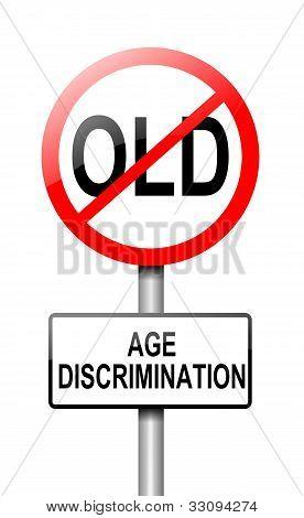 Age Discrimination Concept.
