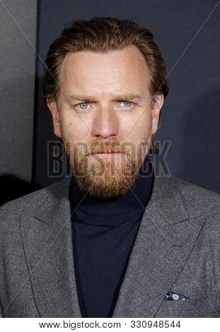 Ewan McGregor at the Los Angeles premiere of 'Doctor Sleep' held at the Regency Village Theater in Westwood, USA on October 29, 2019.