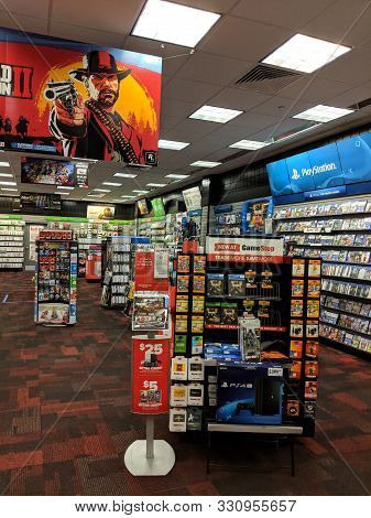 Honolulu -  October 11, 2018:  Red Dead Redemption 2 And Other Video Games On Display Inside Gamesto