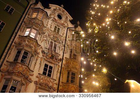 Christmas Lights In The Center Of Innsbruck