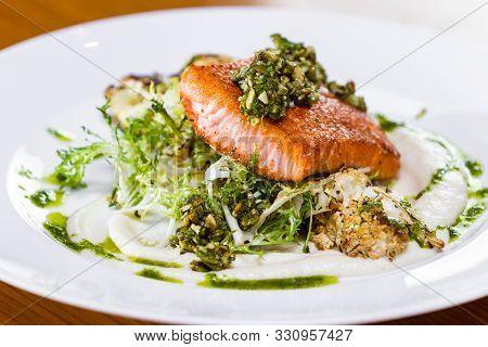 Seared Alaskan Salmon