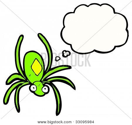 cartoon poisonous spider poster