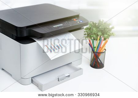 Printer, Copier Device In Office