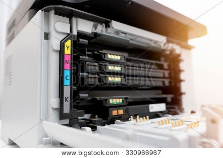 Toners In The Laser Printer