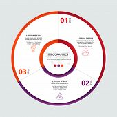 Vector flat template circle and sector infographics. Business concept with 5 sectors. Five steps for content, flowchart, timeline, levels, marketing, presentation, graph, diagrams, slideshow poster