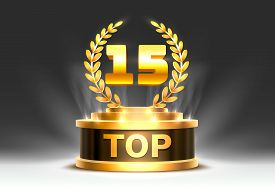 Top 15 Best Podium Award Sign, Golden Object.