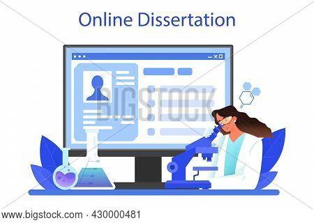 Chemist Online Service Or Platform. Chemistry Scientist Doing An Experiment
