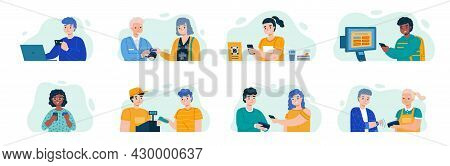 Payment Methods. People Pay Prices Different Ways, Contactless System, Electronic Transactions, Cryp