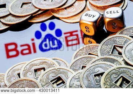 Kazan, Russia - August 16, 2021:  Baidu Is A Chinese Multinational Technology Company. Dices With Th