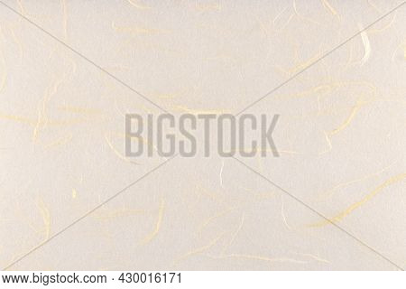 Thin Silk Fibers Decorative Paper Texture. Plant Fibre Hairs Decorated Paper Background. Landscape H