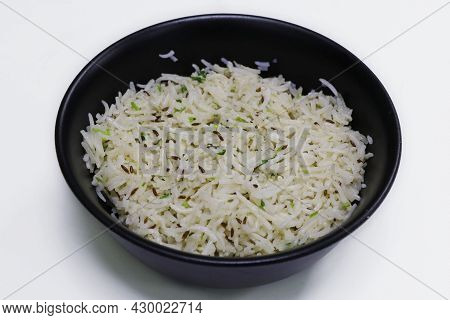 Jeera Pulao ( Cumin Flavored Rice) Indian Food Isolated