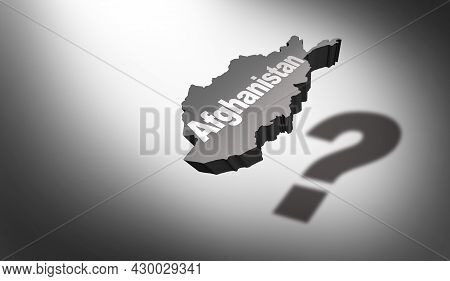 Afghanistan Concept As The Central Asia Or South Asian Country As A Nation In Turmoil With Afghani P