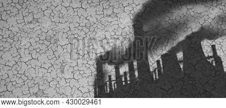 Man-made Climate Change And Greenhouse Gases As A Shadow Of Industrial Pollution Sources On Dried Or